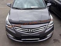 Дефлекторы капота Sim для Hyundai Solaris 2014