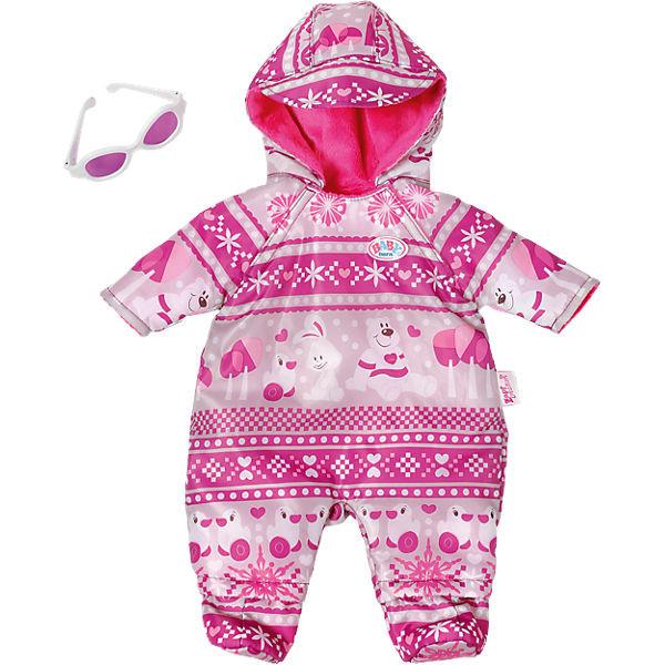 Одежда для кукол Беби Борн Зимний комплект комбинезон с очками Baby Born Zapf Creation 821381