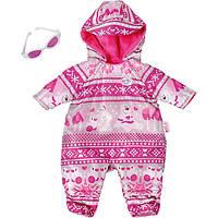 Одежда для кукол Беби Борн Зимний комплект комбинезон с очками Baby Born Zapf Creation 821381, фото 1