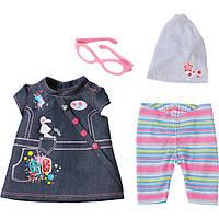 Одежда для кукол Беби Борн комплект одежды Делюкс джинсовый Baby Born Zapf Creation 822210