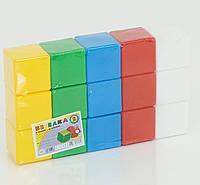 Набор детских кубиков цветных 15 шт