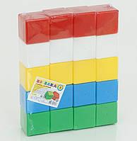 Набор детских кубиков цветных 30 шт