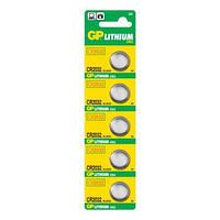 Батарейка диск. GP CR2032-U5 Lithium CR2032, 3V