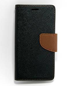 Чехол книжка для LG K7 X210DS боковой с отсеком для визиток, Mercury GOOSPERY, черный