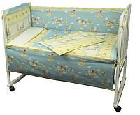 """Детский постельный набор в кроватку 120х60см 4 предмета Журавлик ТМ """"РУНО"""""""