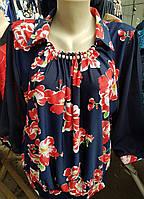 Милая блуза в крупные цветы