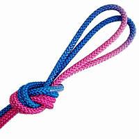 Скакалка Pastorelli Patrasso Multicolor 3м нейлон 00286 синий-малиновый-розовый