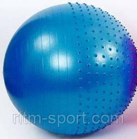 М'яч для фітнесу і пілатесу 2 в 1 (половинка гладка, половинка з масажними шипами, діаметр 75 см)