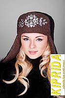 Комбинированная шапка-ушанка