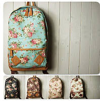 Рюкзак жіночий з квітковим принтом, фото 1