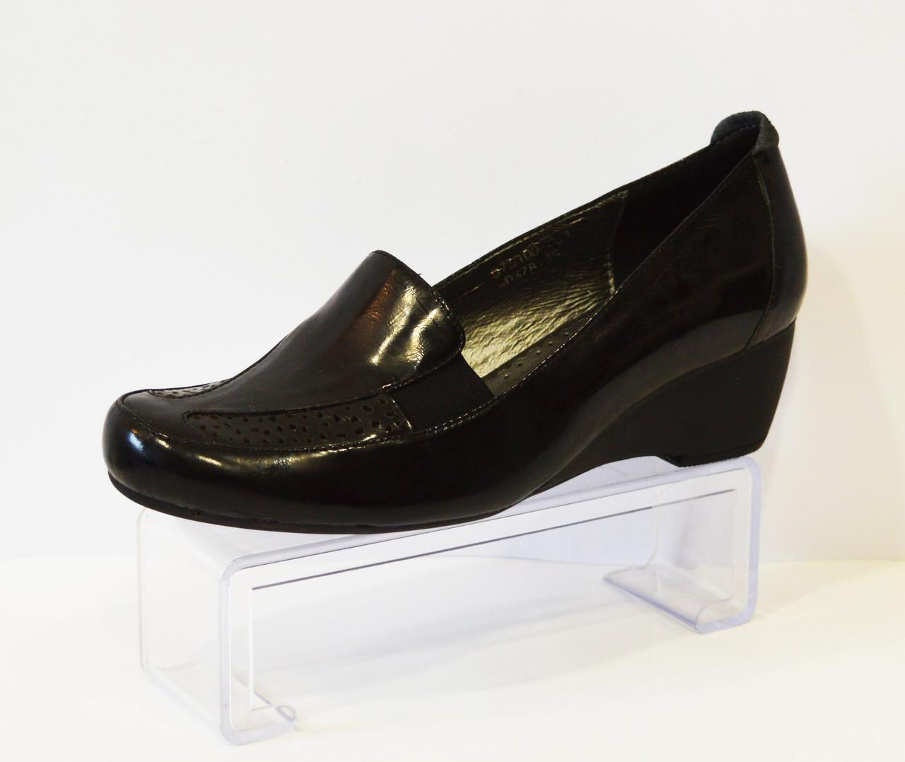 Туфли черные на невысоком каблуке Gotti
