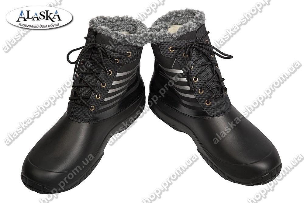 Мужские сапоги черные (Код: М-4)