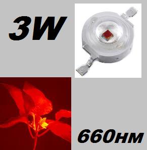 Фито светодиод для растений 3W, 660нм
