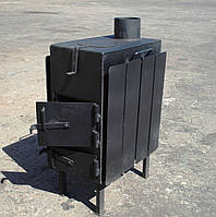 Буржуйка стальная с КОНФОРКОЙ (обогрев до 35 м.кв), КОЧЕРГА В ПОДАРОК, фото 1
