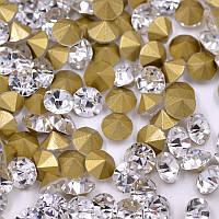 Конусные стразы SS12 (3.0 мм) Crystal. Цена за 1 шт