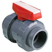 Кульовий кран, промисловий, з червоною ручкою, PVC/PTFE/EPDM DN15 (d.20 mm) Sekisui