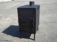 Буржуйка стальная  (обогрев до 45 м.кв), КОЧЕРГА В ПОДАРОК, фото 1