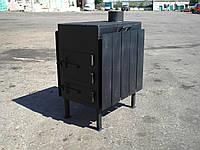 Буржуйка стальная  (обогрев до 50 м.кв), КОЧЕРГА В ПОДАРОК, фото 1