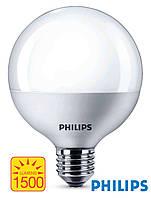 Светодиодная лампа-шар с цоколем Е27 Philips LED Globe E95 16,5Вт с теплым светом
