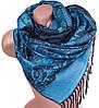 Приятный женский двусторонний палантин из пашмины 180 на 71 см ETERNO ES2707-5-1 голубой