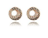 Серьги с кристаллами,покрытые золотом код 819 Код:180064019