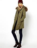 Куртка парка женская зимняя с мехом
