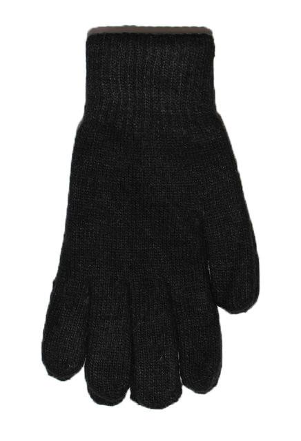 Вязаные мужские ангоровые перчатки двойные - №16-5-27