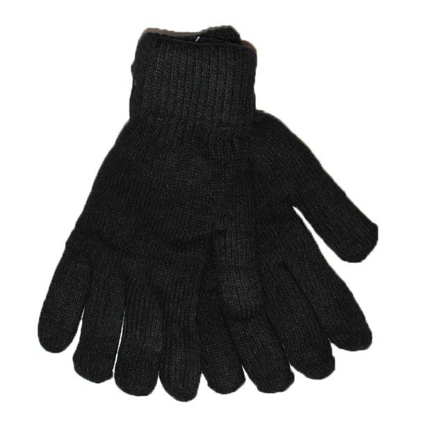 Мужские шерстяные перчатки двойные - №16-5-28