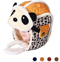 Шапочка ушанка панда