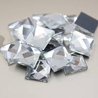Стразы клеевые, Квадрат 5 х 5 мм, Crystal
