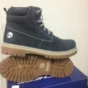 Ботинки кожаные зимние Timderlend реплика