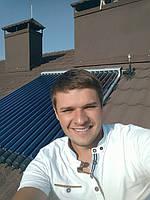 Система солнечного нагрева воды 200 литров, Киевская обл., с. Петровское