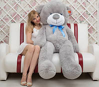 Большой плюшевый медведь серый 200 см