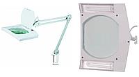 14-0023. Лупа-лампа на струбцине 8069 люмин.подсветка 2xPL9W, 3Х, диам-190x157м