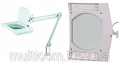 14-00-051. Лупа-лампа на струбцине, люмин. подсветка 2xPL9W, увеличение-3Х, диам-190x157мм, 8069