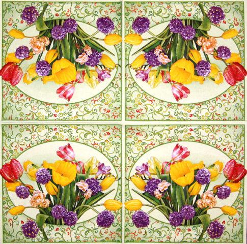 Салфетки декупажные Букет тюльпанов 1492