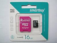Карта памяти Micro SD Smartbuy 16 Gb