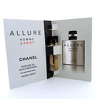 Парфюмерное масло с феромонами Chanel Allure Homme Sport (Шанель Алюр Хом Спорт) 5 мл. Без спирта!