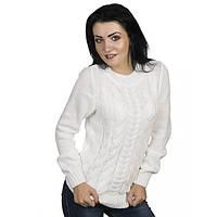 Нарядный свитер модной вязки