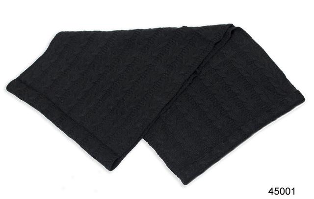 Снуд вязаный шерстяной черный 1