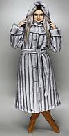 Шуба с капюшоном,Серо-голубая норка 44-46,48-50,52-54,56-58
