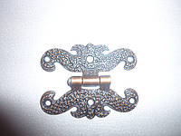 Петля мебельная декоративная(бронза)