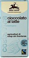 Alce Nero шоколад молочний 100 г