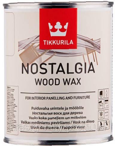 Воск для стен и мебели Nostalgia Ностальгия Тиккурила Кокос, 1л
