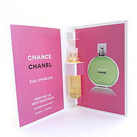 Масло с феромонами Chanel Chance eau Fraiche (Шанель Шанс эу Фреш) 5 мл. Без спирта (реплика)