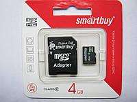Карта памяти Micro SD Smartbuy 4 Gb 10 класс