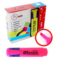 Маркер текстовий , LR-7001 розовий Leader