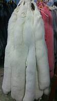 Мех шкурки финского белого песца альбиноса, полезная длина 80-85 см, фото 1