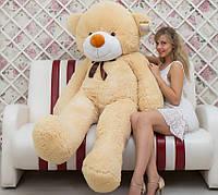 Медведь плюшевый персиковый 200 см