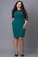 Нарядное женское платье больших размеров с ремешком